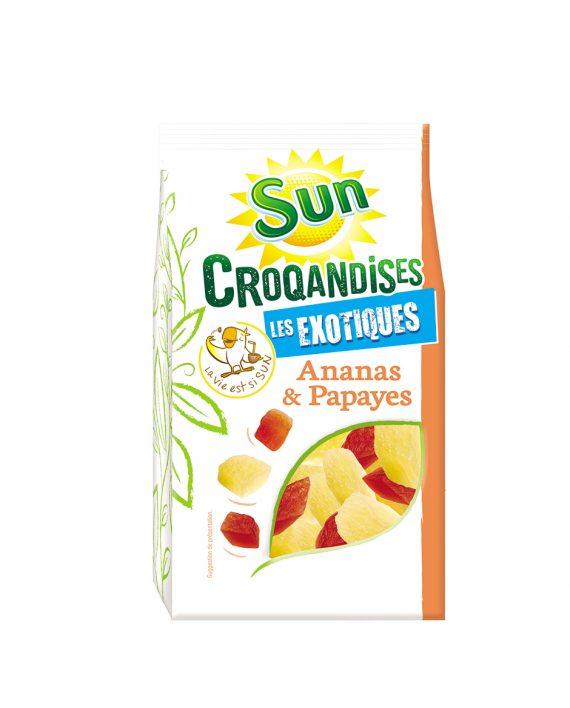 Ananas papaye 250g croqandises SUN