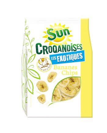 Bananes chips 250g croqandises SUN
