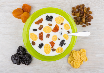 Petit déjeuner et fruits secs