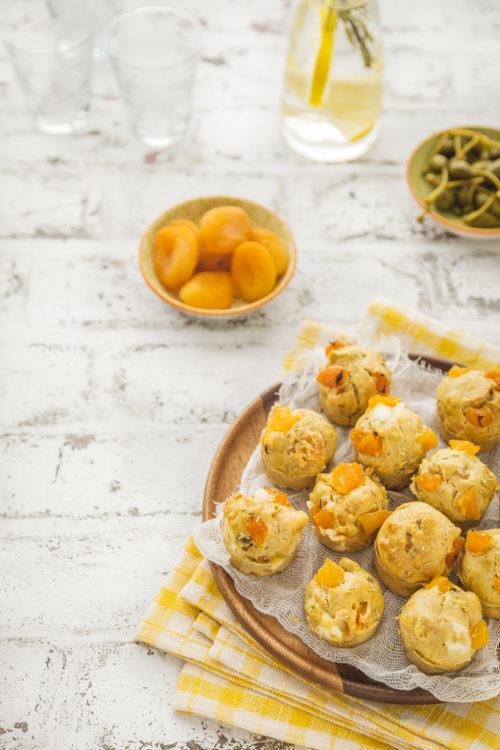 muffins abricots-oignons-chevre-romarin