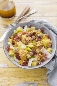 Salade d'endives, figues et noix