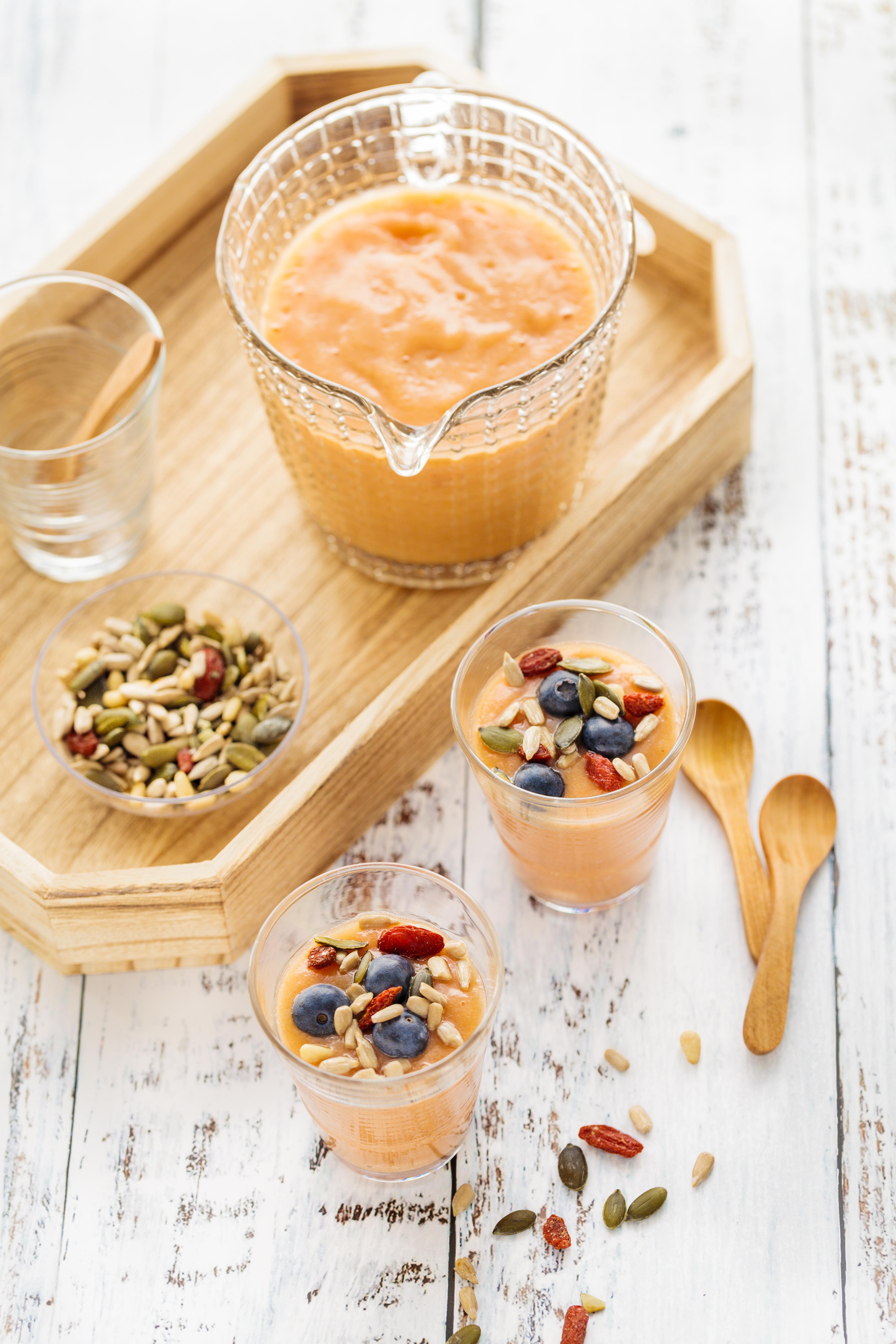 soupe glacée melon et graines