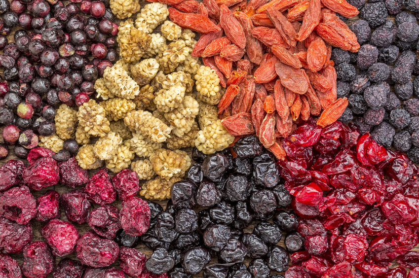 superfruits baies séchées bonnes pour la santé