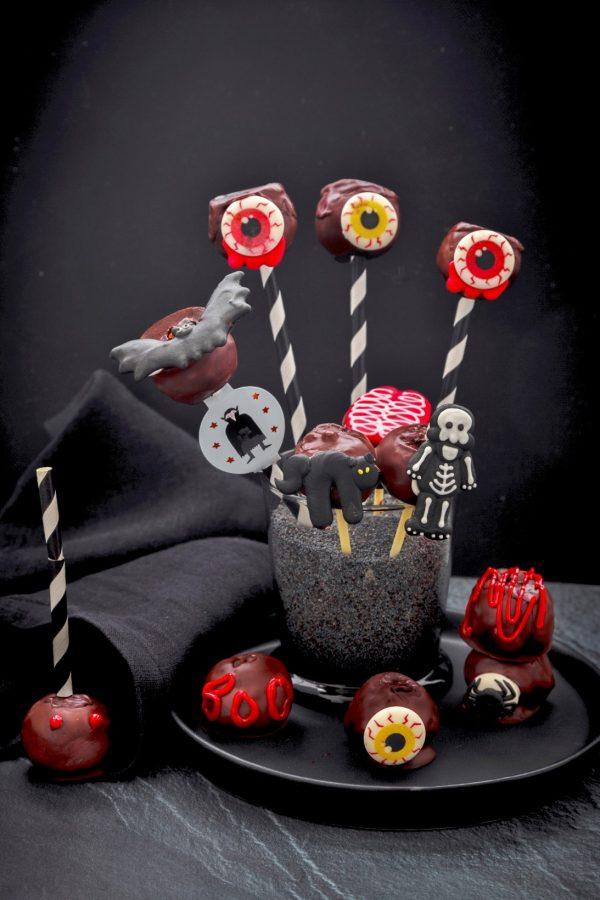 recette de cake pop pour halloween aux dattes
