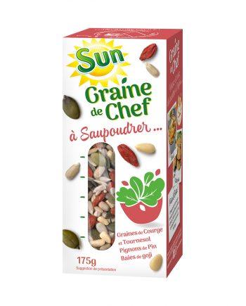 SUN Graine de chef graines de courge et tournesol pignons baie de goji 175g