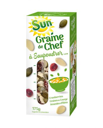 SUN Graine de chef graines de courge cranberries et amandes effilées 175g