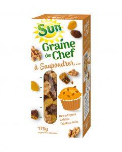 SUN Graine de chef figues noix raisins 175g