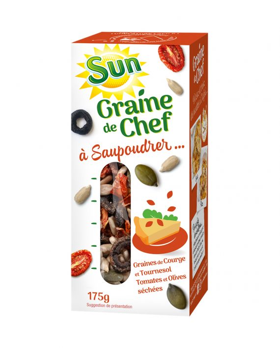 SUN Graine de chef tomate courge tournesol olive 175g