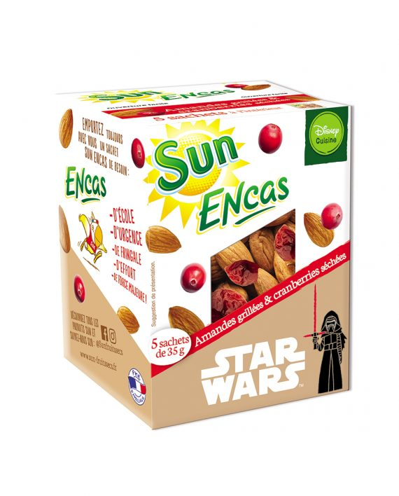 SUN ENCAS star wars Amandes cranberries 175g