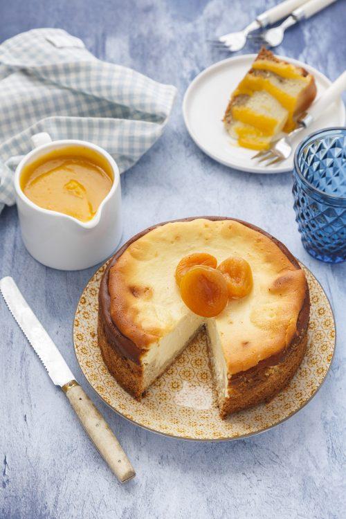 Cheesecake aux amandes et abricots
