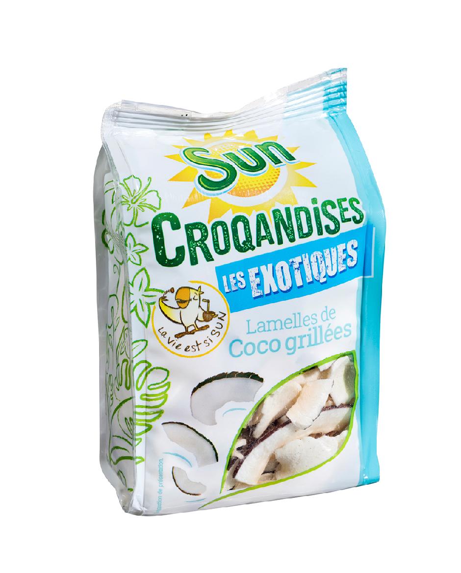 LAMELLES DE NOIX DE COCO GRILLEES 125G CROQANDISES