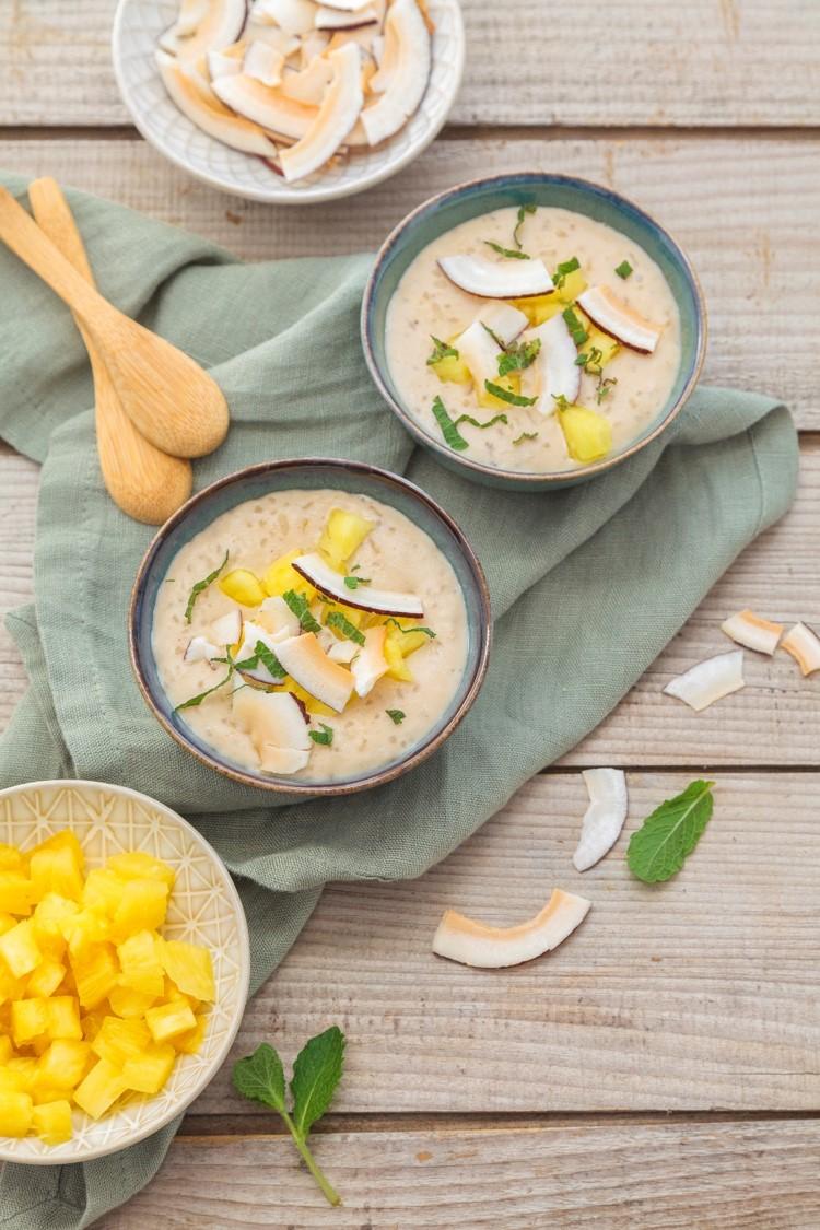 riz au lait coco-ananas