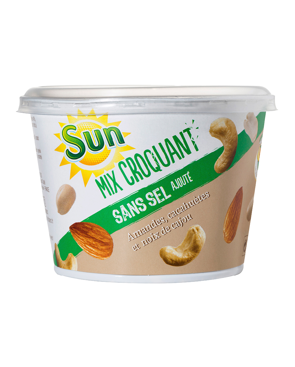 Mini CUP SUN amandes, noix de cajou, cacahuètes 110g