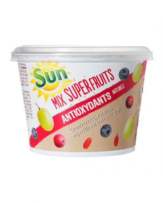 Mini CUP SUN cranberries, myrtilles, raisins, goji 110g