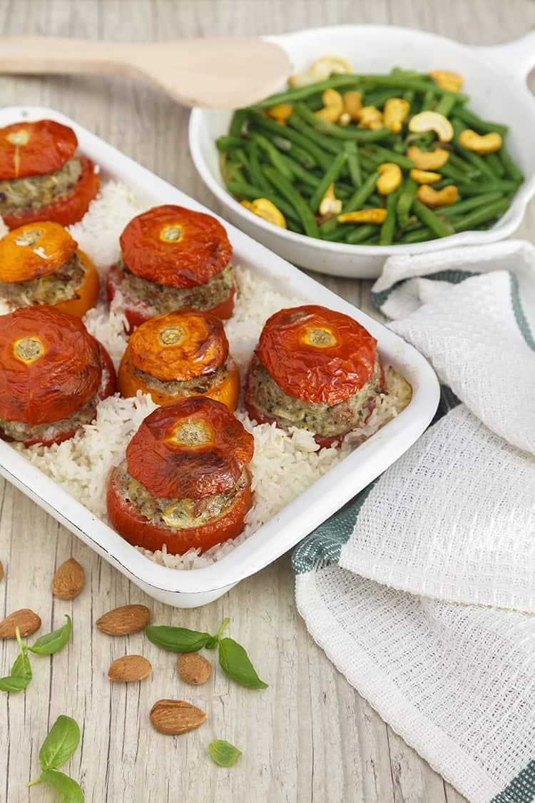 tomates farcies amandes-basilic