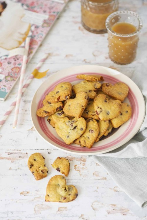 cookies coeur amandes choco raisins cranberries